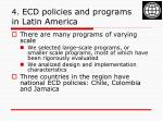 4 ecd policies and programs in latin america
