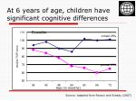 at 6 years of age children have significant cognitive differences