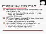 impact of ecd interventions