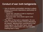 conduct of war both belligerents