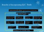 benefits of incorporating q c tools3