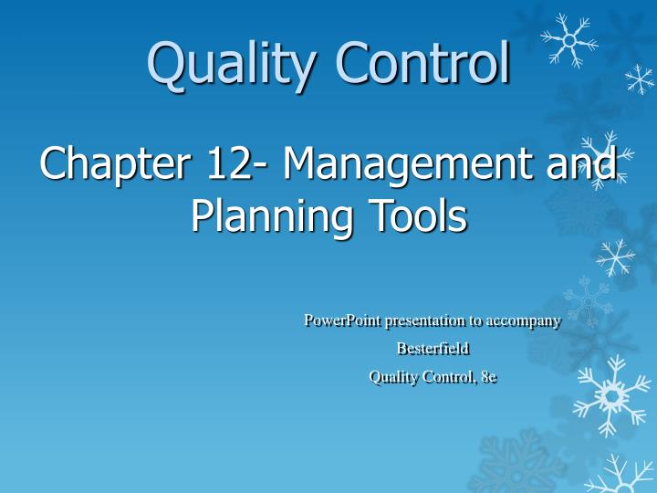 powerpoint presentation to accompany besterfield quality control 8e n.