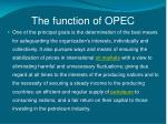 the function of opec