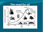 the need for oil