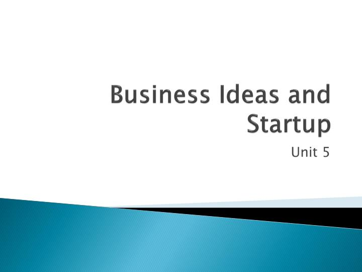 business ideas and startup n.
