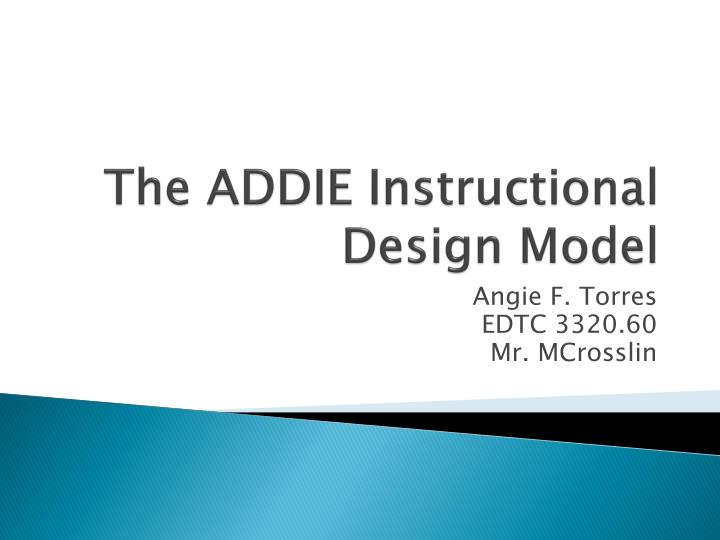 the addie instructional design model n.