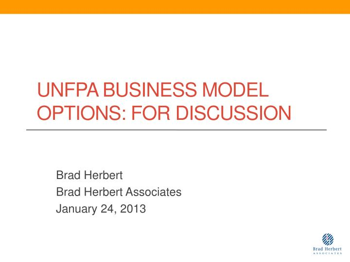 unfpa business model options for discussion n.