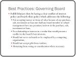 best practices governing board1