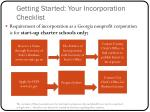 getting started your incorporation checklist