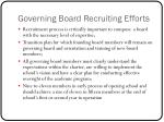 governing board recruiting efforts