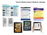 trend in mobile content media e reading