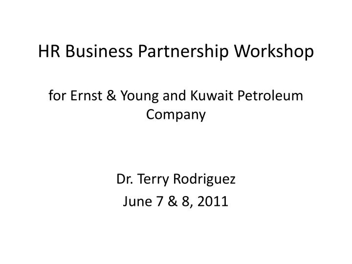 hr business partnership workshop for ernst young and kuwait petroleum company n.