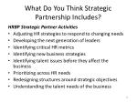 what do y ou think strategic partnership includes