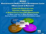 m2d2 massachusetts medical device development center umass lowell worcester