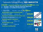 successful funding efforts nih sbir sttr