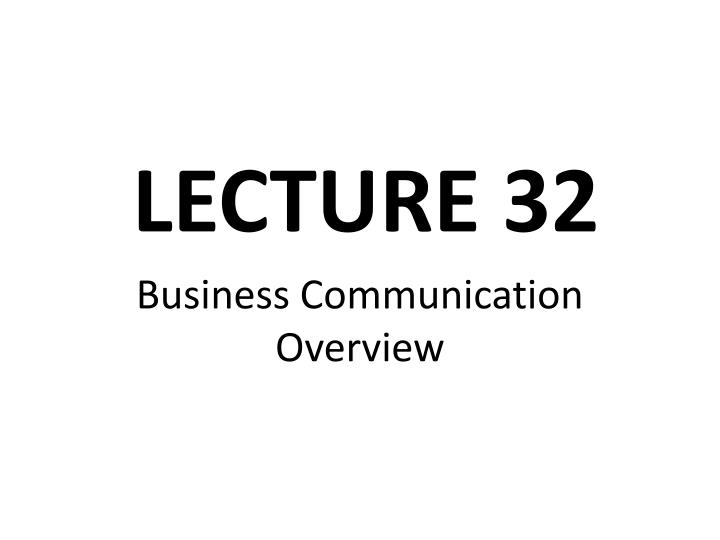 business communication overview n.