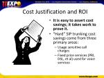 cost justification and roi