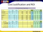 cost justification and roi5