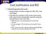 cost justification and roi6