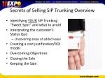 secrets of selling sip trunking overview