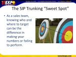 the sip trunking sweet spot2