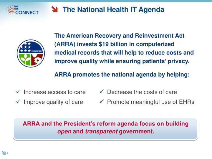 The National Health IT Agenda