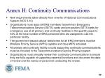 annex h continuity communications