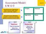 assessment model s w o t