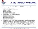 a key challenge for deams