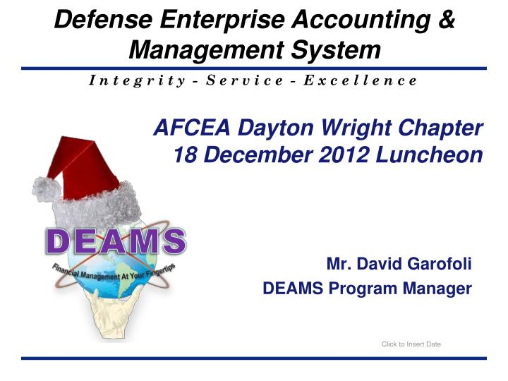 afcea dayton wright chapter 18 december 2012 luncheon n.