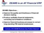 deams is an af financial erp