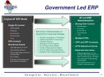 government led erp