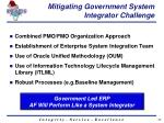 mitigating government system integrator challenge
