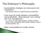 the embracer s philosophy