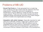 problems of mb uid