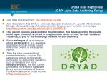 dryad data repository jdap joint data archiving policy