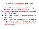 what is framework and why