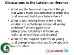 discussions in the latvian conference