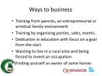 ways to business