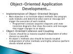 object oriented application development cont1