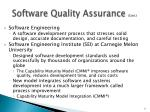 software quality assurance cont
