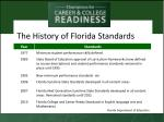 the history of florida standards