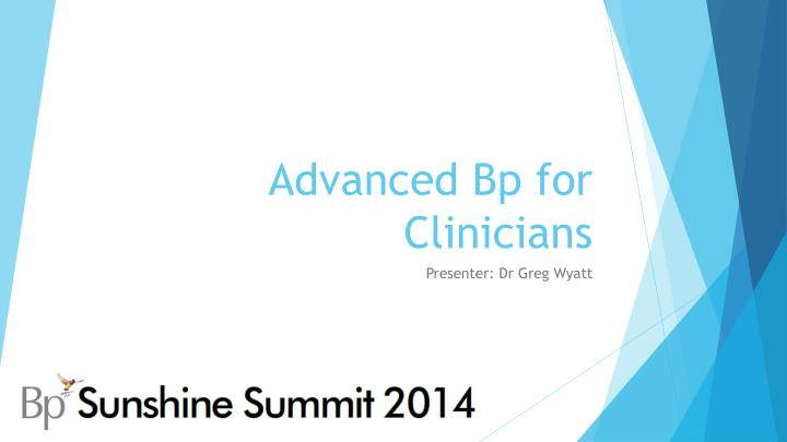 advanced bp for clinicians n.