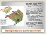 multiple nuclei land use model