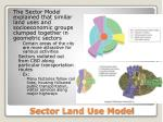 sector land use model1