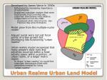 urban realms urban land model