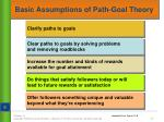 basic assumptions of path goal theory