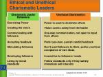 ethical and unethical charismatic leaders1