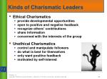 kinds of charismatic leaders