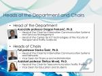 heads of the department and chairs